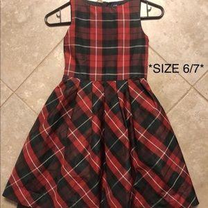 Gap plaid tartan holiday dress 6/7